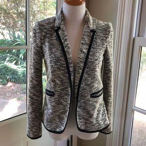 Anthropologie Cartonnier Black/white nubby blazer